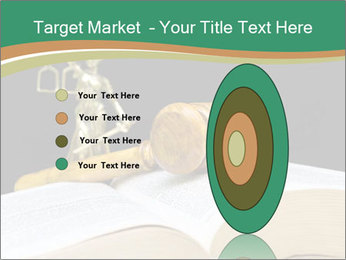 Gavel, law book PowerPoint Template - Slide 84