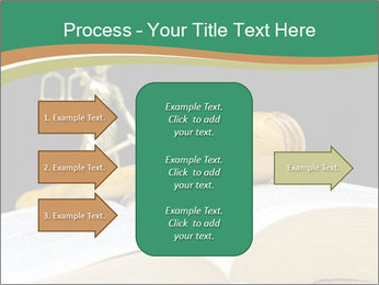 Gavel, law book PowerPoint Template - Slide 85