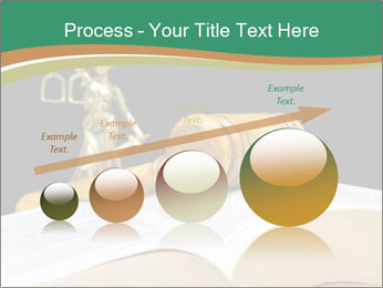 Gavel, law book PowerPoint Template - Slide 87