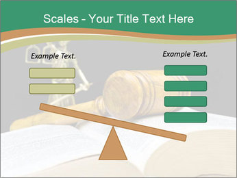 Gavel, law book PowerPoint Template - Slide 89