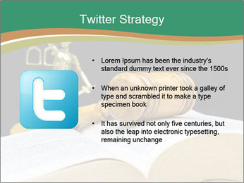 Gavel, law book PowerPoint Template - Slide 9