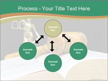 Gavel, law book PowerPoint Template - Slide 91