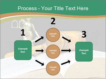 Gavel, law book PowerPoint Template - Slide 92