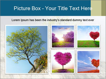 Lonely tree hanging from rocks PowerPoint Templates - Slide 19