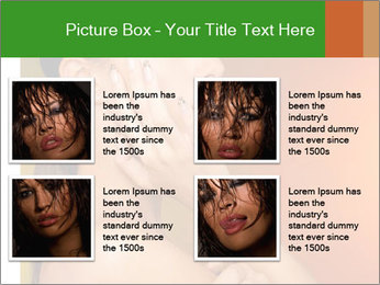 Young beautiful tanned woman PowerPoint Template - Slide 14