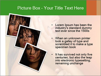 Young beautiful tanned woman PowerPoint Template - Slide 17