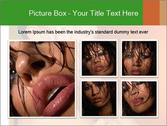 Young beautiful tanned woman PowerPoint Template - Slide 19