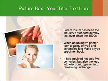 Young beautiful tanned woman PowerPoint Template - Slide 20