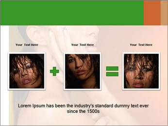 Young beautiful tanned woman PowerPoint Template - Slide 22
