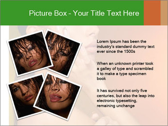 Young beautiful tanned woman PowerPoint Template - Slide 23