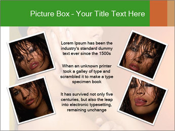 Young beautiful tanned woman PowerPoint Template - Slide 24