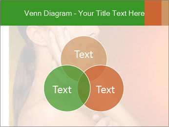 Young beautiful tanned woman PowerPoint Template - Slide 33