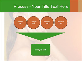 Young beautiful tanned woman PowerPoint Template - Slide 93