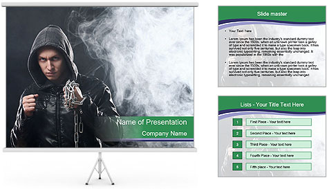 Street fighter PowerPoint Template