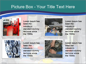 Dead battery clamped PowerPoint Template - Slide 14