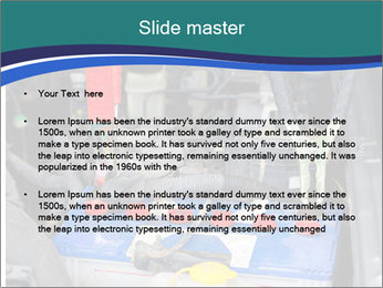 Dead battery clamped PowerPoint Template - Slide 2