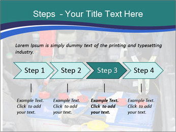 Dead battery clamped PowerPoint Template - Slide 4