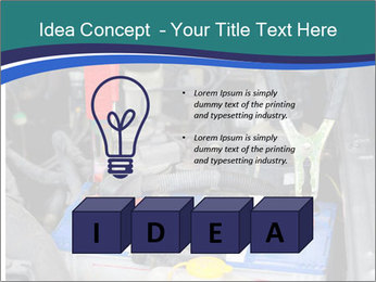 Dead battery clamped PowerPoint Template - Slide 80