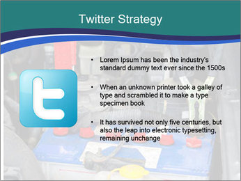 Dead battery clamped PowerPoint Template - Slide 9