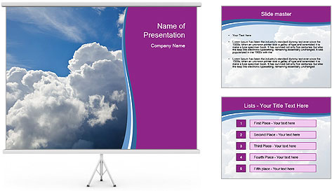 Dramatic sky PowerPoint Template