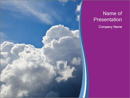 Dramatic sky PowerPoint Templates
