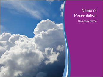 Dramatic sky PowerPoint Template - Slide 1