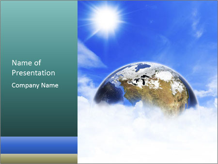 Planet earth in space PowerPoint Template