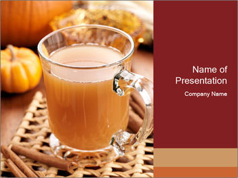 Glass of apple cider PowerPoint Template - Slide 1