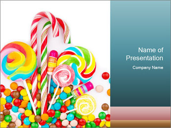 Colorful candy PowerPoint Template - Slide 1