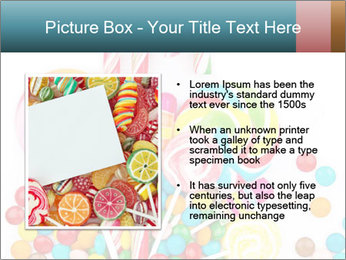 Colorful candy PowerPoint Template - Slide 13
