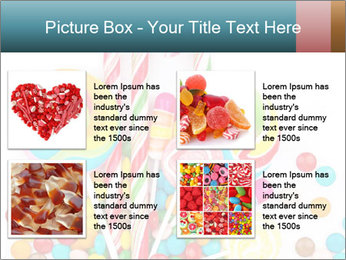 Colorful candy PowerPoint Template - Slide 14