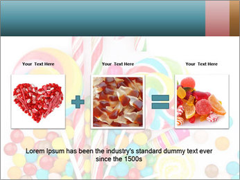 Colorful candy PowerPoint Template - Slide 22