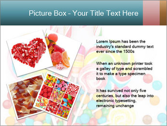 Colorful candy PowerPoint Template - Slide 23