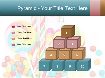 Colorful candy PowerPoint Template - Slide 31