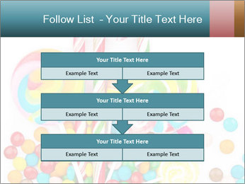 Colorful candy PowerPoint Template - Slide 60