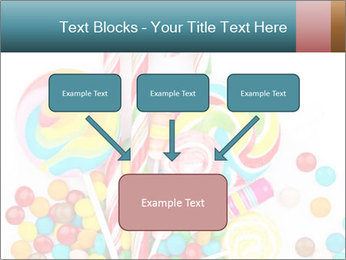 Colorful candy PowerPoint Template - Slide 70