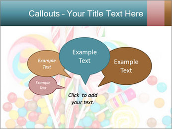 Colorful candy PowerPoint Template - Slide 73