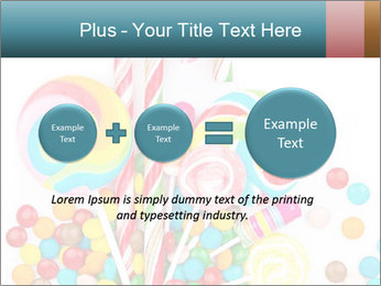 Colorful candy PowerPoint Template - Slide 75
