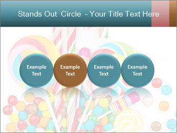 Colorful candy PowerPoint Template - Slide 76