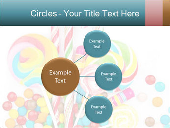 Colorful candy PowerPoint Template - Slide 79