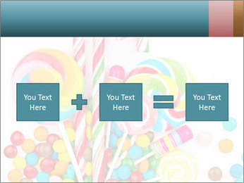Colorful candy PowerPoint Template - Slide 95