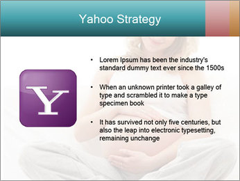 Young attractive pregnant woman PowerPoint Template - Slide 11