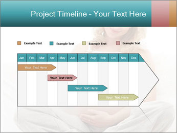 Young attractive pregnant woman PowerPoint Template - Slide 25