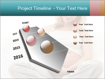 Young attractive pregnant woman PowerPoint Template - Slide 26