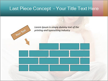 Young attractive pregnant woman PowerPoint Template - Slide 46