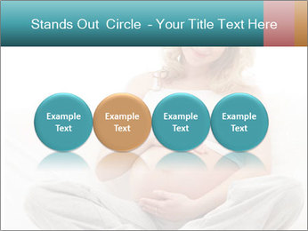 Young attractive pregnant woman PowerPoint Template - Slide 76
