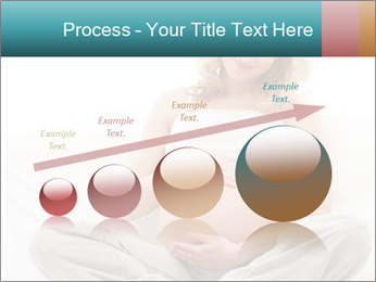 Young attractive pregnant woman PowerPoint Template - Slide 87