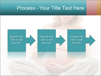 Young attractive pregnant woman PowerPoint Template - Slide 88