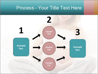 Young attractive pregnant woman PowerPoint Template - Slide 92