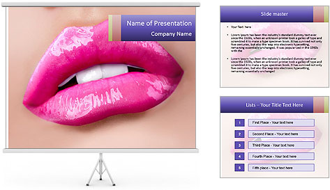 Glossy Lips PowerPoint Template